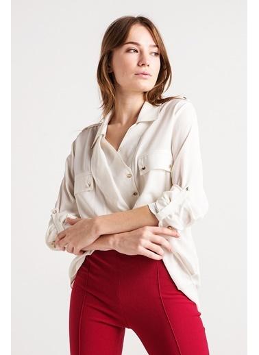 Ön Detaylı Gömlek-Love'n Fashion Paris